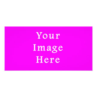 Neon Violet Purple Color Trend Blank Template Picture Card