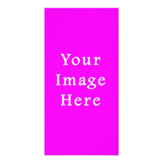 Neon Violet Purple Color Trend Blank Template Photo Cards