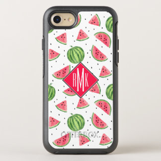 Neon Watercolor Watermelons Pattern OtterBox Symmetry iPhone 8/7 Case