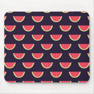 Neon Watermelon on Purple Pattern Mouse Mat