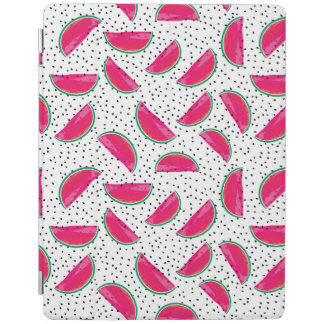 Neon Watermelon on Seeds Pattern iPad Cover
