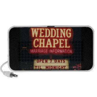 Neon Wedding Chapel Sign in Las Vegas, USA iPhone Speaker