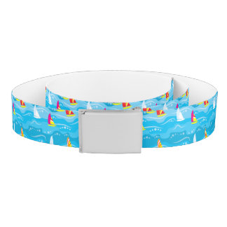 Neon Yacht Pattern Belt