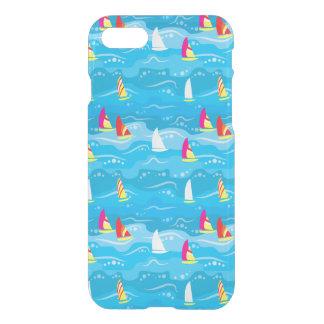 Neon Yacht Pattern iPhone 8/7 Case