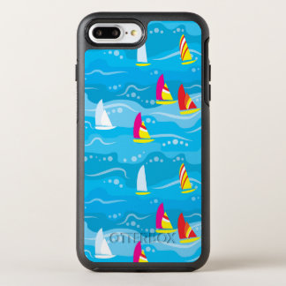 Neon Yacht Pattern OtterBox Symmetry iPhone 8 Plus/7 Plus Case