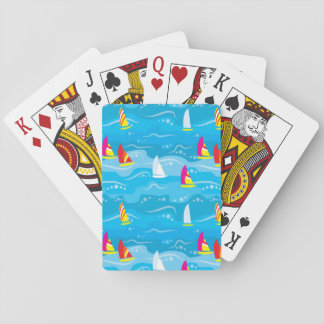 Neon Yacht Pattern Poker Deck