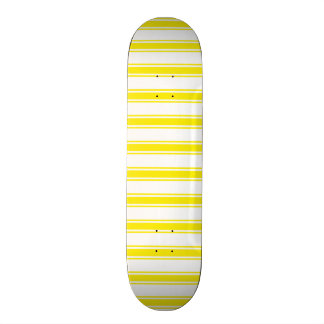 Neon Yellow and White Stripes; Striped Skate Board Decks