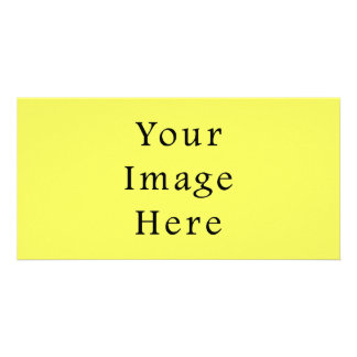 Neon Yellow Color Trend Blank Template Photo Greeting Card