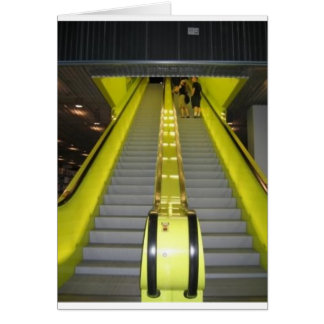 Neon Yellow Escalator Card