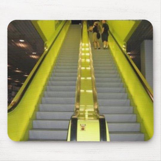 Neon Yellow Escalator Mouse Mat