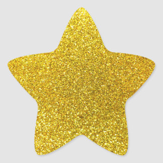 Neon yellow glitter star sticker