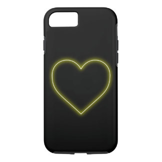 Neon Yellow Heart - Love Valentines iPhone 8/7 Case