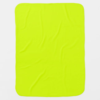 Neon Yellow, High Visibility Chartreuse Pram blankets