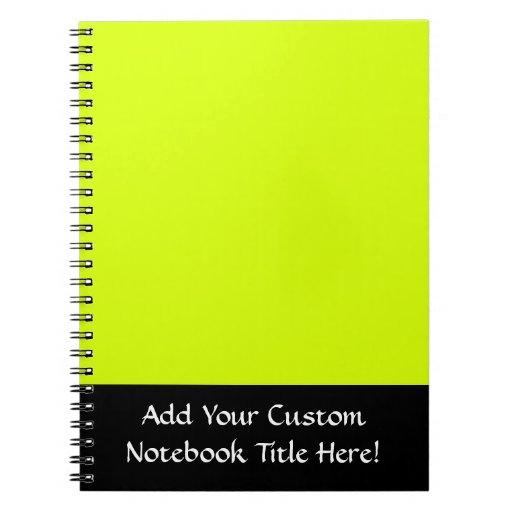 Neon Yellow, High Visibility Spiral Note Book