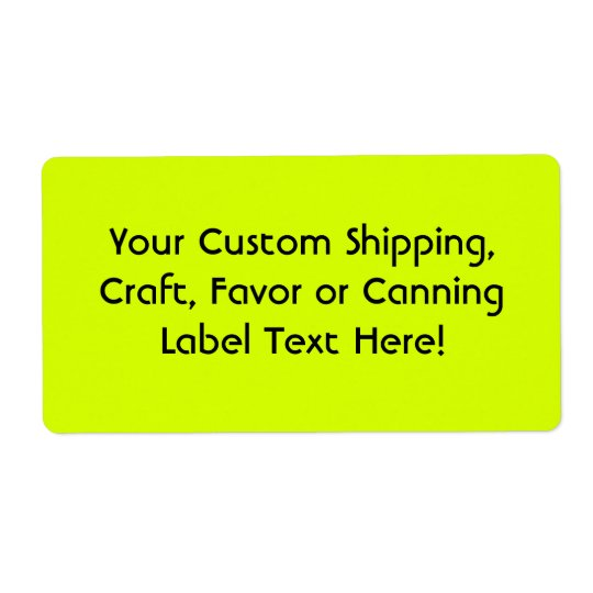 Neon Yellow, High Visibility Shipping Label