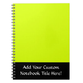 Neon Yellow, High Visibility Spiral Notebooks