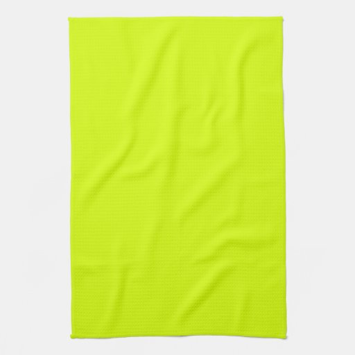 Neon Yellow, High Visibility Hand Towels
