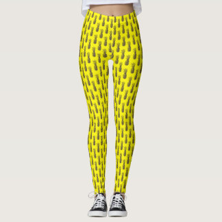 Neon yellow pineapple print Leggings