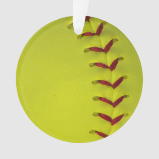 Neon Yellow Softball