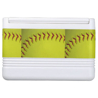 Neon Yellow Softball Igloo Cooler