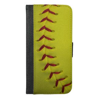 Neon Yellow Softball iPhone 6/6s Plus Wallet Case