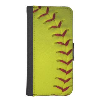 Neon Yellow Softball iPhone SE/5/5s Wallet Case