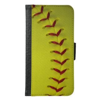 Neon Yellow Softball Samsung Galaxy S6 Wallet Case