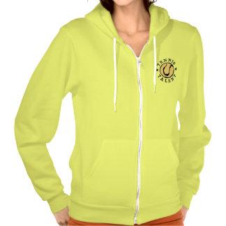 Neon yellow tennis hoodie for women and girls