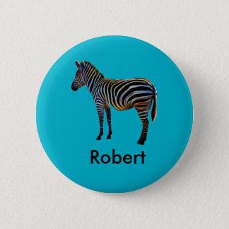 Neon Zebra 6 Cm Round Badge