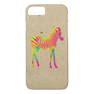 Neon Zebra Baby Animal Psychedelic Funky Retro iPhone 8/7 Case