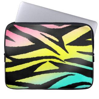 Neon Zebra Electronics Bag