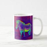 neon zebra mug