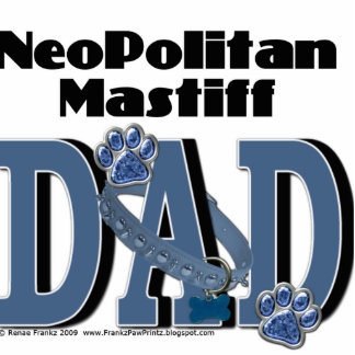 Neopolitan Mastiff DAD Standing Photo Sculpture