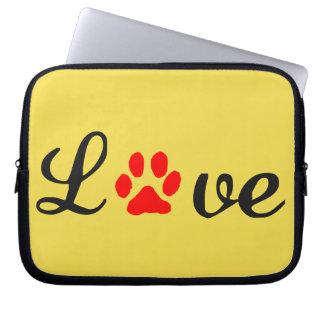 Neoprene Laptop Sleeve 10 inch love pets