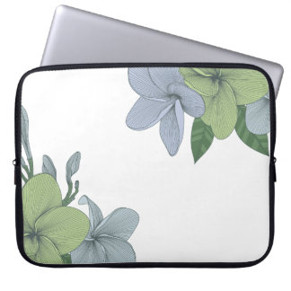 "Neoprene Laptop Sleeve 15"" Plumeria"