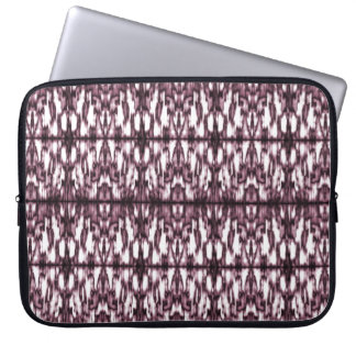 "Neoprene Laptop Sleeve 15"" Stylized ornament Ikat"