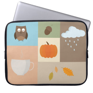 Neoprene Laptop Sleeve 15 with autumn design.