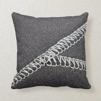 Neoprene seam throw pillows