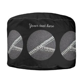 Neoprene seam round pouf