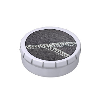Neoprene seam jelly belly candy tin