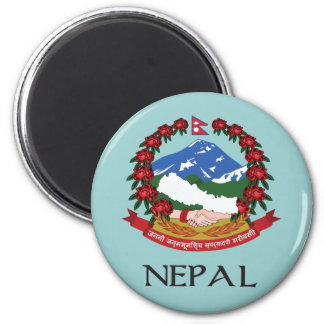 Nepal Coat of Arms 6 Cm Round Magnet