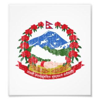 Nepal Coat Of Arms Photo Art