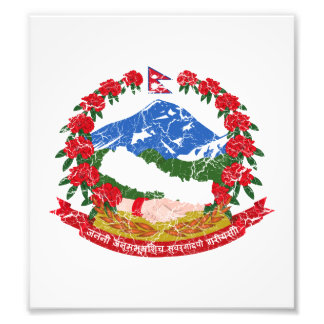 Nepal Coat Of Arms Photographic Print