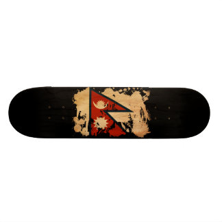 Nepal Flag 21.3 Cm Mini Skateboard Deck