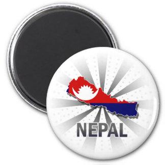 Nepal Flag Map 2.0 Refrigerator Magnet