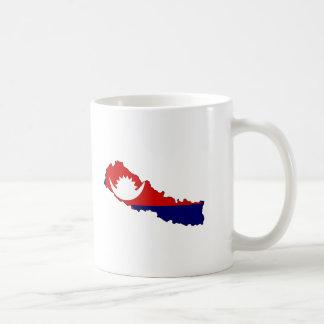 Nepal flag map mugs