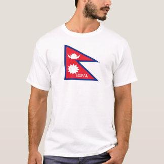 Nepal flag souvenir tsirt T-Shirt