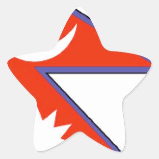 Nepal Flag Star Stickers