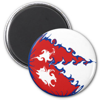 Nepal Gnarly Flag 6 Cm Round Magnet