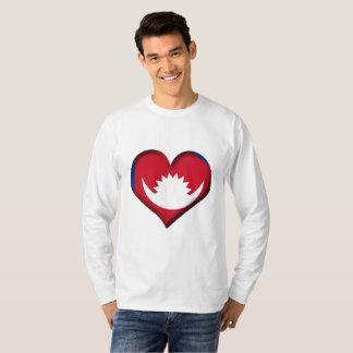 Nepal Heart Flag T-Shirt